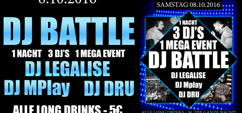 8.10.2016 – DJ BATTLE