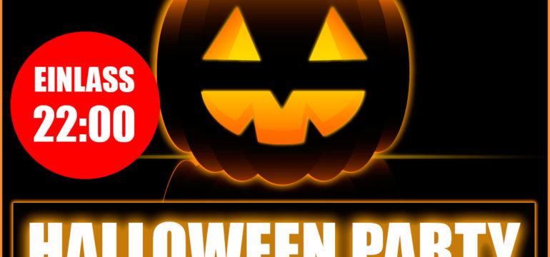 MONTAG 31.10.2016 – HALLOWEEN PARTY