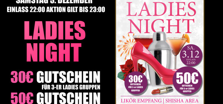 SA. 3.12.2016 – LADIES NIGHT