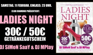 "SA. 11.02.2017 – ""LADIES NIGHT"""