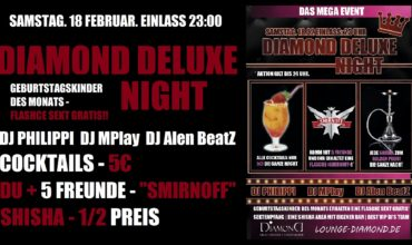 "SA. 18.02.2017 – ""DIAMOND DELUXE NIGHT"""
