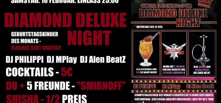 "SA. 18.02.2017 – ""DIAMOND DELUXE NIGHT"""