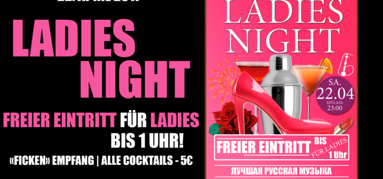 SA. 22.04.2017 –  LADIES NIGHT