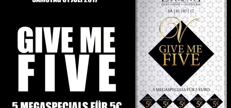 SA. 1.07.2017 –  GIVE ME FIVE