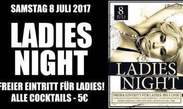 SA. 8.07.2017 –  LADIES NIGHT