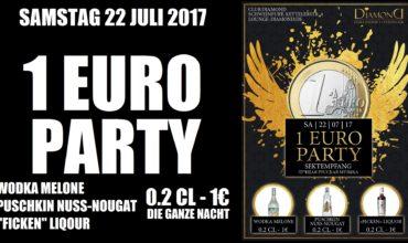 22.07.2017 – 1 EURO PARTY