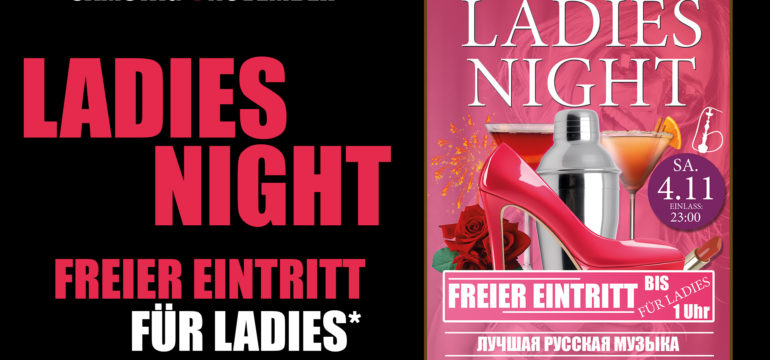 SA. 4.11.2017 –  LADIES NIGHT