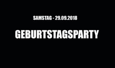 SA. 29.09.2018 –  BIRTHDAY PARTY