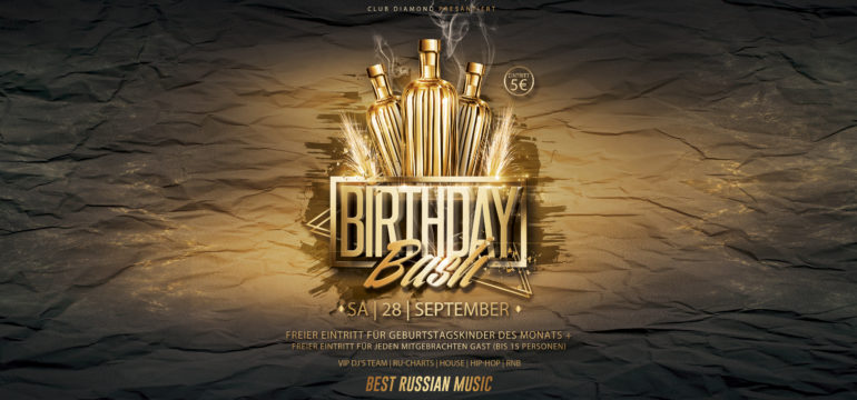 SA. 28.09.2019 – BIRTHDAY BASH PARTY