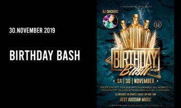 SA. 30.11.2019 – BIRTHDAY BASH PARTY