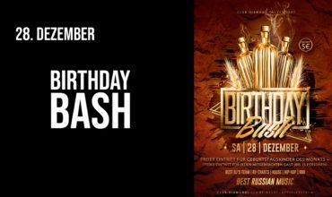 SA. 28.12.2019 – BIRTHDAY BASH PARTY